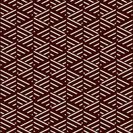 Lignes diagonales brunes sur fond blanc. Conception de modèle de surface transparente avec ornement linéaire. Fond d'écran à traits obliques. Motif de trait de hachage. Papier numérique avec des rayures inclinées pour l'impression. Art vectoriel