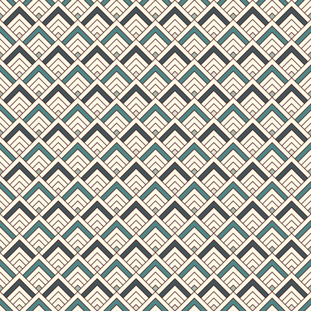 Repeated chevrons abstract wallpaper. Asian traditional ornament with scallops. Mountain stamp motif. Seamless surface pattern with scales. Modern japanese style digital paper, textile print. Vector