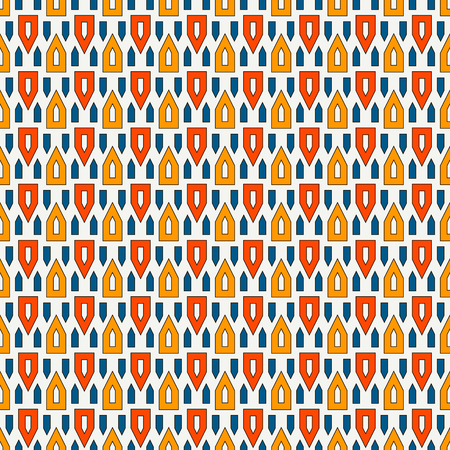 Bright hollow and solid triangles on white background. Repeated figures wallpaper. Ethnic ornamental motif. Seamless pattern with geometric ornament in african style. Vector art