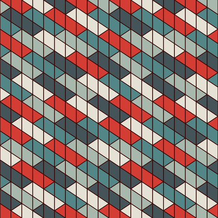 Rectangular interlocking angled blocks wallpaper. Parquet background. Seamless surface pattern design with repeated rectangles. Mosaic motif. Digital paper for page fills, web designing. Vector