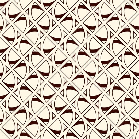 Seamless surface pattern with abstract figures. Ethnic and tribal print with geometric forms. Ornamental background with repeated stylized triangles. African style digital paper, textile print.