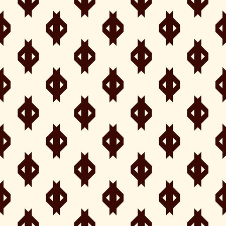 Repeated mini signs wallpaper. Seamless surface pattern design with geometric symbols. Simple abstract background. Modern minimalist style digital paper, textile print. Vector illustration