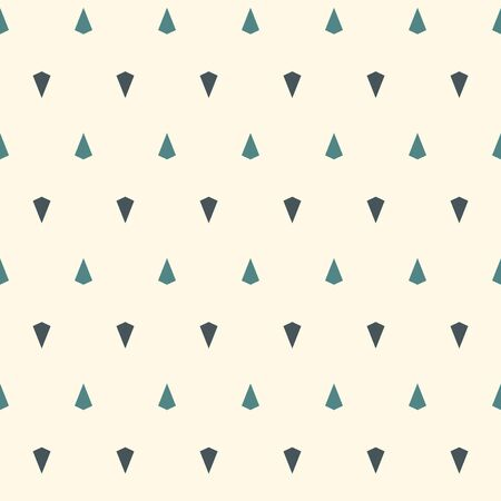 Seamless pattern with simple ornament. Mini kites motif. Repeated triangles abstract background. Minimalist geometric wallpaper. Modern style digital paper, textile print, page fill. Vector art