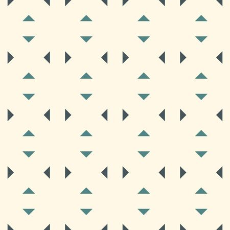 Repeated mini triangles minimalist background. Simple abstract wallpaper. Seamless surface pattern design with geometric figures. Modern style digital paper, textile print, page fill. Vector art