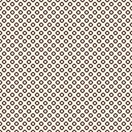 Brown colors seamless pattern with repeated circles. Hex nut motif. Geometric abstract background. Modern style surface texture. Digital paper, textile print, page fill. Vector illustration