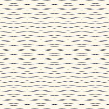 Outline wavy horizontal repeated lines abstract background. Seamless pattern with thin striped geometric ornament. Can be used for digital paper, textile print, page fill. Vector illustration