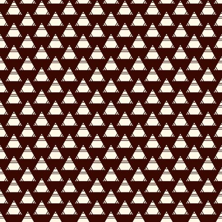 Repeated mini triangles on white background. Simple abstract wallpaper. Seamless surface pattern design with geometric figures. Modern style digital paper, textile print, page fill. Vector art