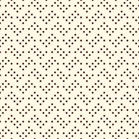 Polka dot seamless pattern. Repeated dotted zigzag stripes texture. Round spots motif. Mini circles abstract wallpaper. Simple minimalist geometric background. Vector digital paper, textile print 向量圖像