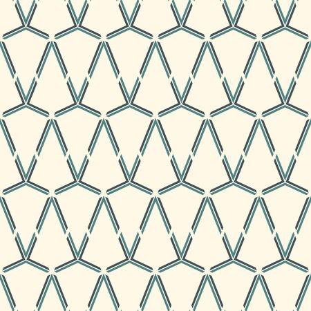 Seamless surface pattern with interlocking triangles tessellation. Triangular grid structure abstract wallpaper. Linear motif. Geometric modern print. Simple digital paper, textile print. Vector art