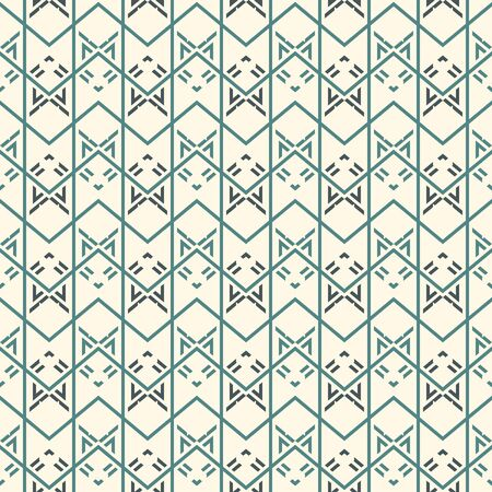 Seamless surface pattern with arrow fletching. Repeated chevrons and zigzag wallpaper. Tribal and ethnic motif. Native americans ornamental background. Boho chic digital paper, textile print. Vector Reklamní fotografie - 132039208