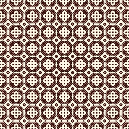 Ancient mosaic wallpaper with floral motif. Eclectic ceramic tile ornament. Moroccan style symmetric geometric seamless surface pattern. Vintage style abstract background. Digital paper. Vector art Reklamní fotografie - 132039210