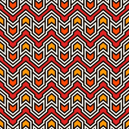 Seamless pattern with arrows and pointers. Repeated chevrons wallpaper. Tribal and ethnic motif. Native americans ornamental abstract background. Boho chic digital paper, textile print. Vector art Çizim