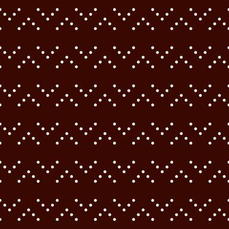 Polka dot seamless pattern. Repeated dotted zigzag stripes texture. Round spots motif. Mini circles abstract wallpaper. Simple minimalist geometric background. Vector digital paper, textile print 矢量图像