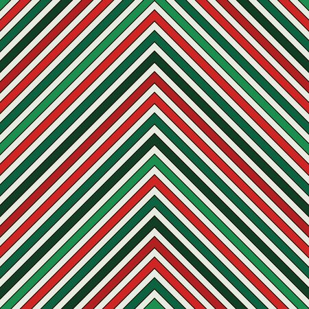 Chevron diagonal stripes abstract background. Seamless pattern in Christmas traditional colors. Zigzag horizontal lines wallpaper. Vivid digital paper, textile print, page fill. Vector art