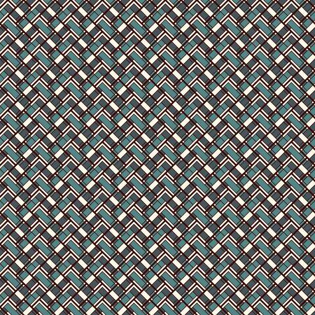 Fischgräten-Tapete. Abstrakter Parketthintergrund. Nahtloses Oberflächenmuster mit wiederholten rechteckigen Fliesen. Geometrische Verzierung mit Zick-Zack-Streifen. Helles digitales Papier, Textildruck. Vektorgrafiken