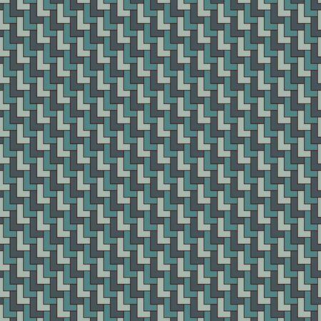 Ornamento tradizionale asiatico con capesante ripetute. Motivo a squame triangolari. Modello di superficie senza cuciture con poligoni. Carta da parati con blocchi a forma di L. Figure geometriche ripetute fondo astratto orientale. Vettoriali