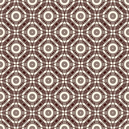 Sseamless pattern with repeated overlapping circles. Round links chain motif. Geometric abstract background. Simple surface texture. Digital paper, textile print, page fill. Vector art