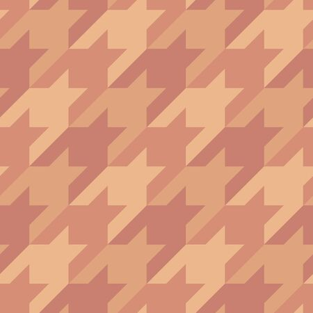 Seamless surface pattern design with houndstooth ornament. Classic fashion fabric print. Mosaic motif. Checkered geometric abstract background. Digital paper, textile print, page fill. Vector art. Ilustración de vector
