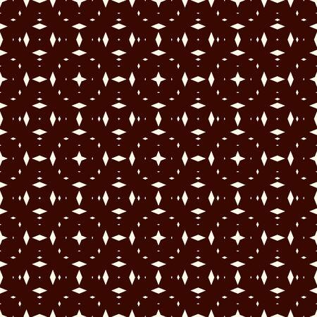 Patrón sin fisuras con adorno de caleidoscopio. Motivo de mini diamantes. Fondo abstracto de rombos repetidos. Papel pintado geométrico minimalista. Vector de papel digital étnico moderno, impresión textil, relleno de página