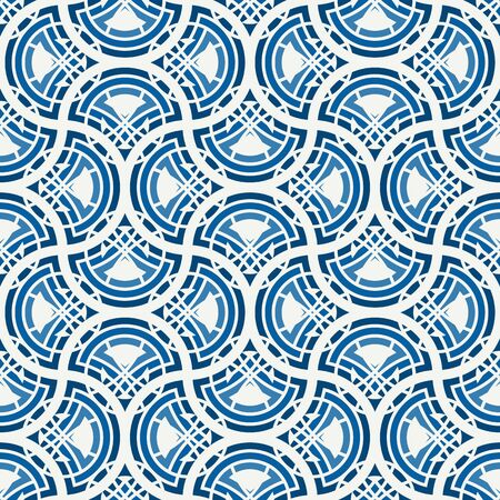 Ogee drop ornament. Repeated maroccan scales mosaic tiles. Scallop shapes motif. Oriental traditional pattern. Arabesque wallpaper. Vector digital paper, textile print. Seamless surface design