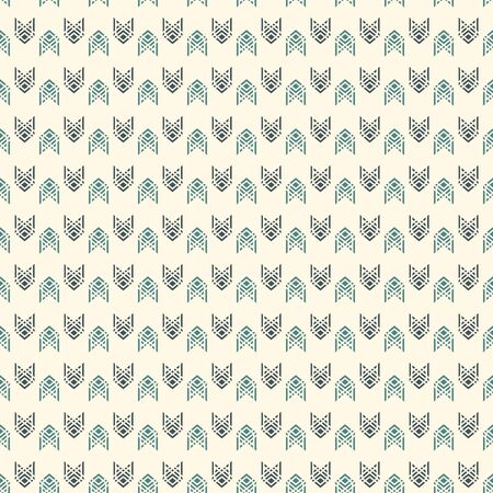 Seamless surface pattern with arrow fletching. Repeated chevrons wallpaper. Tribal and ethnic motif. Native americans ornamental abstract background. Boho chic digital paper, textile print. Vector art