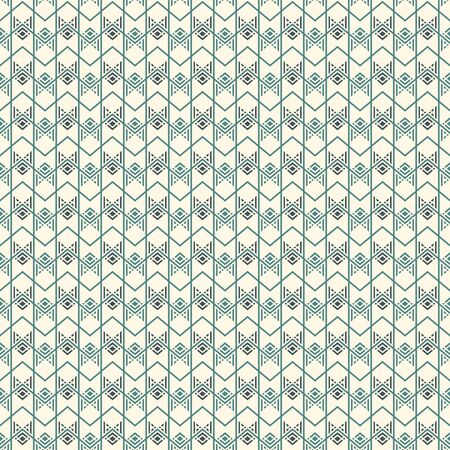 Seamless surface pattern with arrow fletching. Repeated chevrons and zigzag wallpaper. Tribal and ethnic motif. Native americans ornamental background. Boho chic digital paper, textile print. Vector