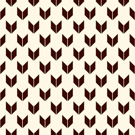 Seamless pattern with arrows motif. Repeated mini angle brackets. Chevrons wallpaper. Minimalist abstract background. Simple modern print with pointers. Digital paper, textile print. Vector art