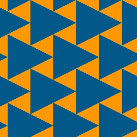 Contemporary geometric pattern. Repeated triangles motif. Seamless surface design. Modern geo abstract background. Minimalist wallpaper. Simple ornamental digital paper, textile print. Vector art Illustration