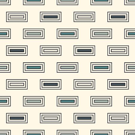 Contemporary geometric pattern. Repeated rectangles motif. Simple minimalist ornament. Modern abstract background. Seamless surface design. Geo wallpaper. Digital paper, textile print. Vector art