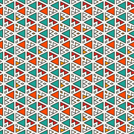 Ethnic, tribal seamless surface pattern. Native americans style background. Repeated triangles motif. Contemporary abstract geometric wallpaper. Boho chic digital paper, textile print. Vector art Vektoros illusztráció