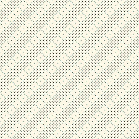 Polka dot seamless pattern. Repeated dotted diagonal stripes texture. Round spots checked motif. Mini circles abstract wallpaper. Simple minimalist geometric background. Vector digital paper Stock Illustratie