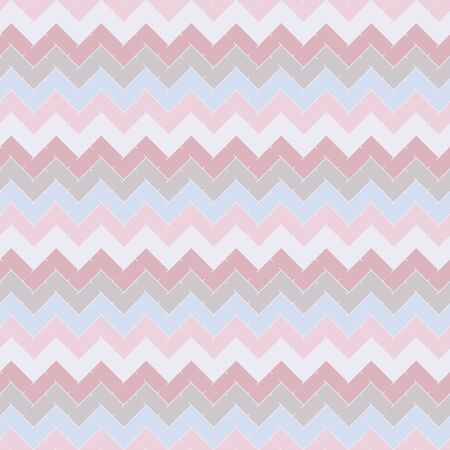 Chevron diagonal stripes abstract background. Pastel colors seamless pattern with classic geometric ornament. Zigzag horizontal lines wallpaper. Digital paper, textile print, page fill. Vector art Ilustrace