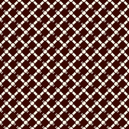 Diamond checkered abstract background. Seamless surface pattern with repeated diagonal crossed hatched lines. Grid wallpaper. Simple geometric ornament. Modern digital paper, textile print. Vector art