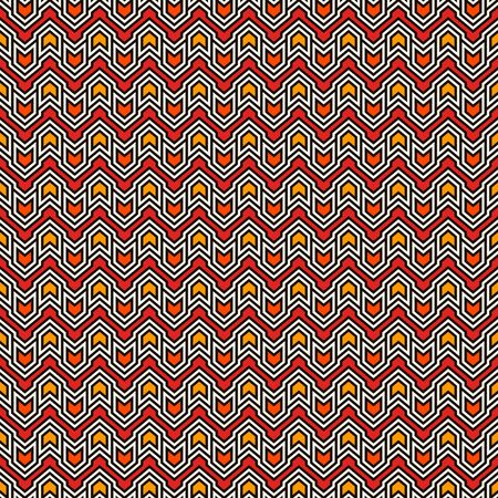 Seamless pattern with arrows and pointers. Repeated chevrons wallpaper. Tribal and ethnic motif. Native americans ornamental abstract background. Boho chic digital paper, textile print. Vector art  イラスト・ベクター素材