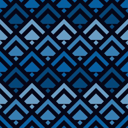 Arrows, scales seamless pattern. Ethnic, tribal print. Squama, chevrons ornament. Repeated arrowhead, triangular shapes background. Native americans ornamental wallpaper. Vector abstract digital paper  イラスト・ベクター素材