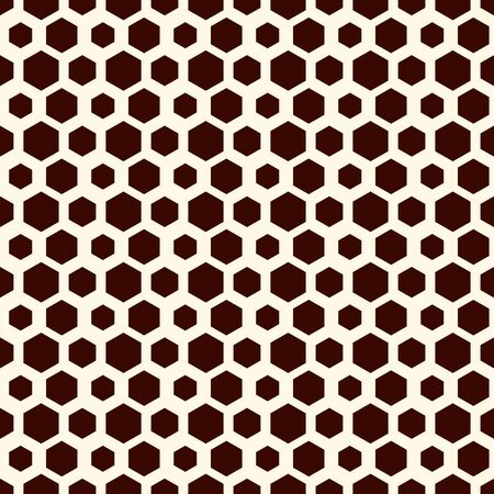 Honeycomb grid abstract background. Outline repeated hexagon wallpaper. Seamless surface pattern with classic geometric ornament. Digital paper, textile print, page fill. Vector art