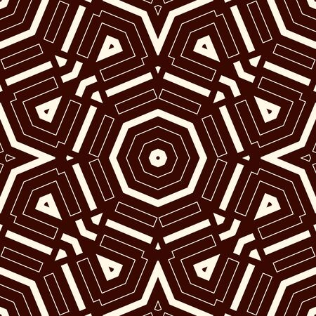 Seamless surface pattern in ethnic style. Outline abstract background. Tribal ornament. Boho chic digital paper, textile print, page fill. Vector art