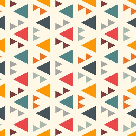 Ethnic, tribal seamless surface pattern. Native americans style background. Repeated triangles motif. Contemporary abstract geometric wallpaper. Boho chic digital paper, textile print. Vector art