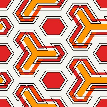 Contemporary geometric pattern. Geo ornament. Repeated figures. Modern background. Seamless surface abstract design. Ethnic wallpaper. Digital paper, textile print. Vector art Vektoros illusztráció