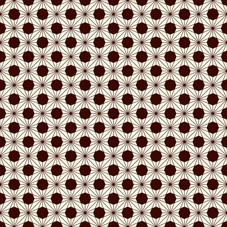 Asanoha seamless surface pattern. Traditional japanese print with hemp leaf motif. Classic asian ornament. Repeated interlocking triangles. Floral background. Oriental digital paper, textile print.  イラスト・ベクター素材