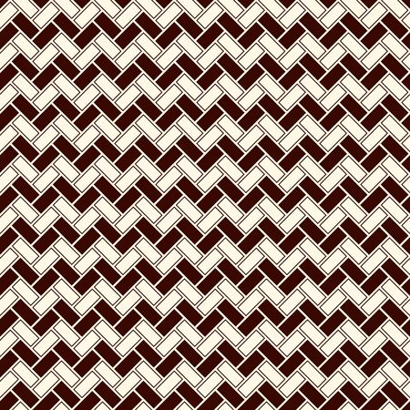 Herringbone wallpaper. Abstract zig zag parquet background. Seamless surface pattern with repeated rectangular tiles. Classic geometric ornament. Digital paper, textile print, page fill. Vector art Illustration