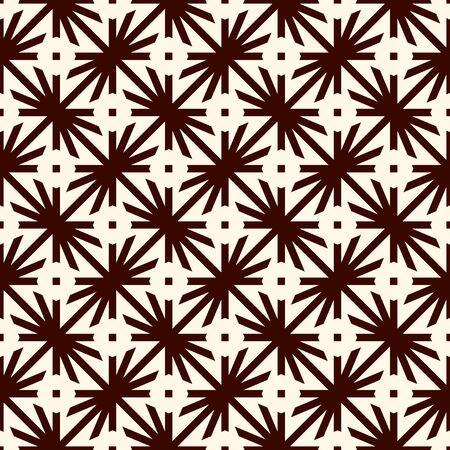 Geometric seamless pattern. Simple surface print.Thorn motif ornament. Minimal geo modern background. Vector abstract digital paper Illusztráció