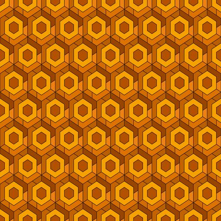 Contemporary honeycomb geometric pattern. Repeated hexagons ornament. Modern mosaic background. Seamless surface abstract design. Geo wallpaper. Digital paper, textile print. Vector art