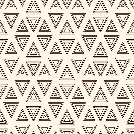Contemporary geometric pattern. Repeated triangles, lines ornament. Modern geo abstract background. Seamless surface design. Grid wallpaper. Digital paper, textile print. Vector illustration
