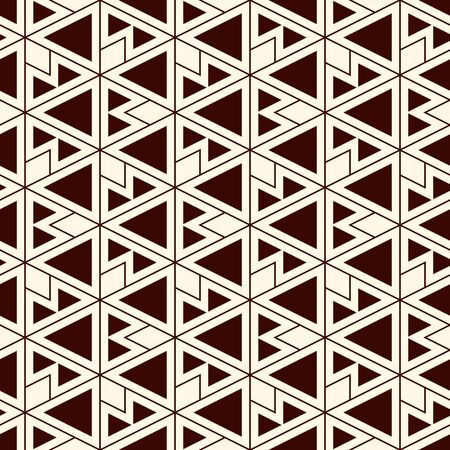 Ethnic, tribal seamless surface pattern. Native americans style background. Repeated geometric figures motif. Contemporary abstract wallpaper. Boho chic grid digital paper, textile print. Vector art