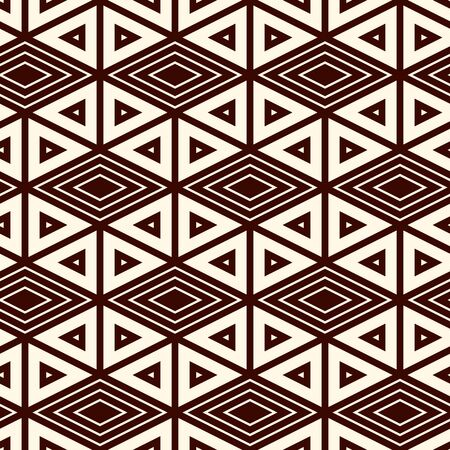 Ethnic, tribal seamless surface pattern. Native americans style background. Repeated diamond, triangles ornament. Geometric figures motif. Boho chic digital paper, textile print. Modern geo wallpaper.