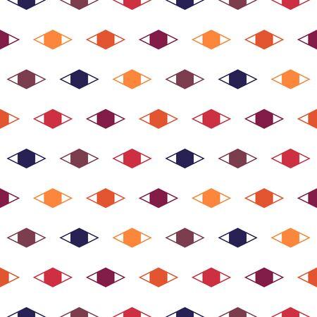 Geometric seamless pattern. Minimal style surface print. Diamond, rhombus motif ornament. Simple geo shapes background. Linear ornamental wallpaper. Vector abstract digital paper