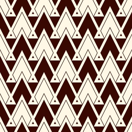 Ethnic style seamless pattern with repeated triangles. Zigzag lines motif. geometric ornament. Native americans background. Tribal Boho chic digital paper, textile print, page fill. Vector art Illustration
