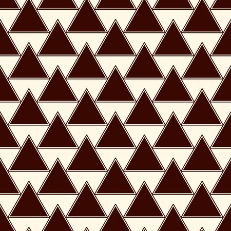 Dark repeated triangles on white background. Simple abstract wallpaper. Seamless surface pattern design with geometric figures. Modern style digital paper, textile print, page fill. Vector art