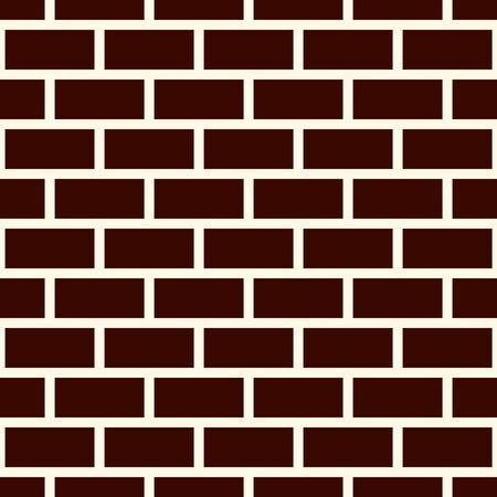 Brick wall abstract background. Brown colors seamless pattern with classic geometric ornament. Bricks motif. Repeated rectangular blocks. Digital paper, textile print. Vector art Ilustração